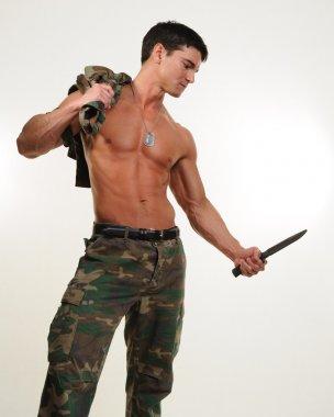 Sexy army man