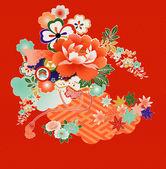 Fényképek Vintage japán kimonó minták