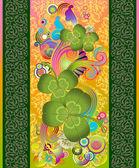 zöld lóhere levelek és virágok