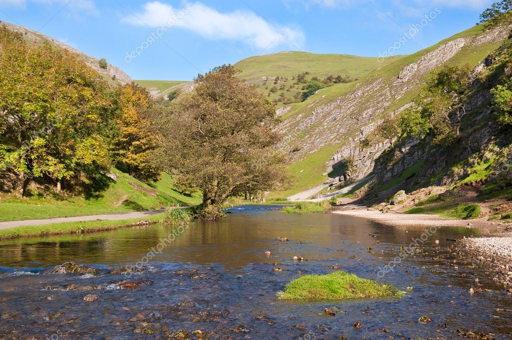 River Dove, Dovedale, Derbyshire, England.