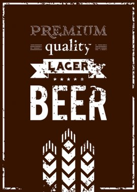 Vector design of beer label