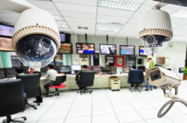 CCTV and security room background