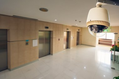 CCTV Camera Operating in front of elevator and fireexit