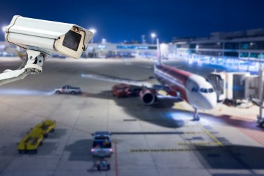 CCTV camera or surveillance operating in airport