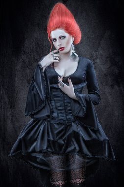 Girl in Gothic style.