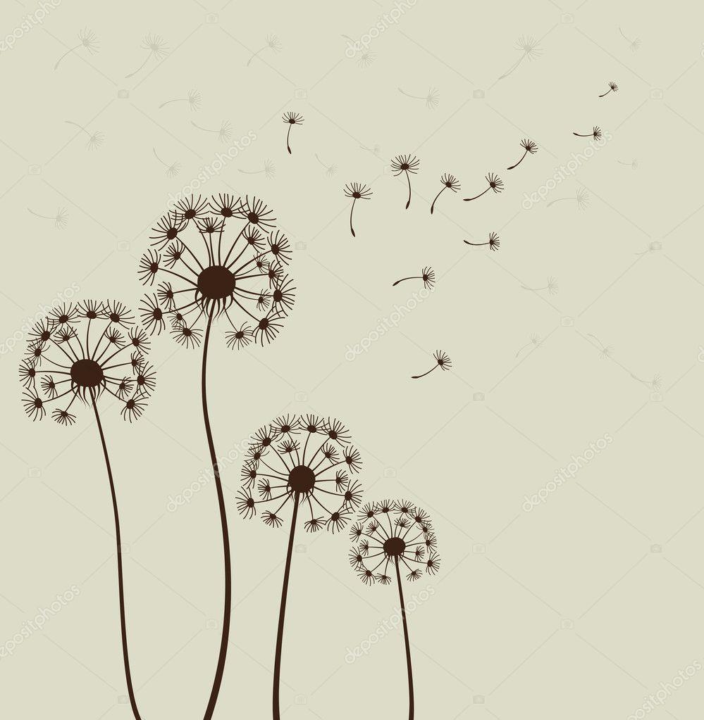 Dandelions. Vector