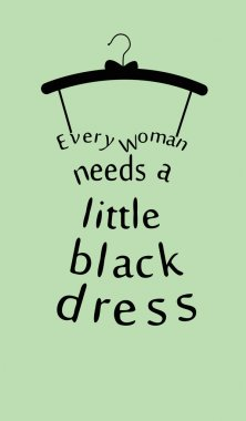 Woman dress with a quote.