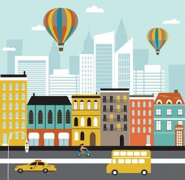 City street. Vector clip art vector