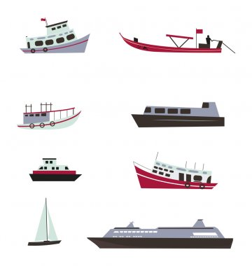 Set of boats