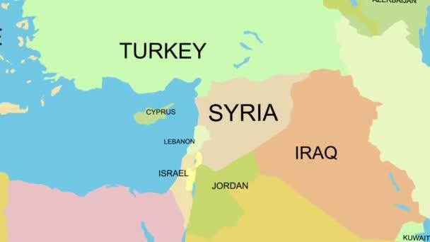 Karte Syrien.Syrien Karte