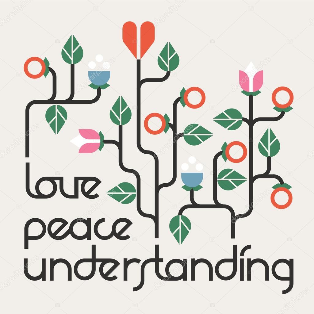 Pace Amore E Comprensione Vettoriali Stock Ivsen 51043373
