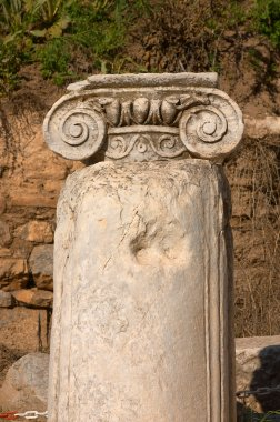 Ancient column in Efes