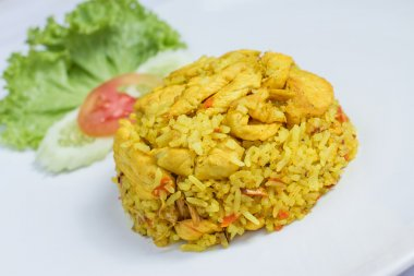 fried rice with yellow ginger with chicken