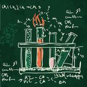 Věda chemie laboratorní pozadí