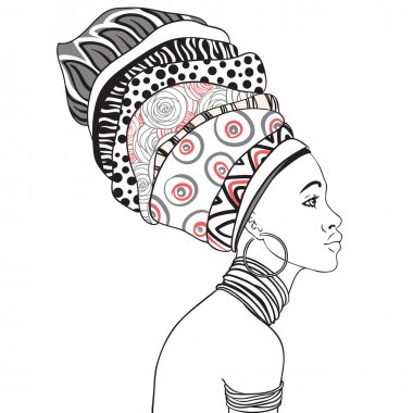 African woman in turban