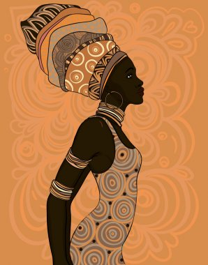 African American woman in turban