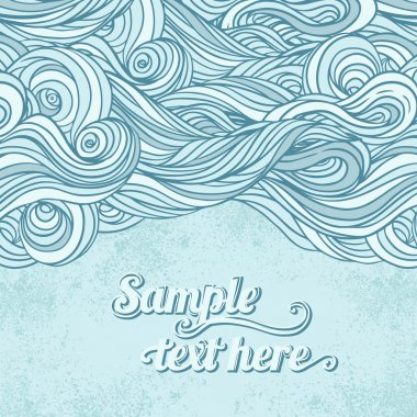 Blue abstract pattern, waves background