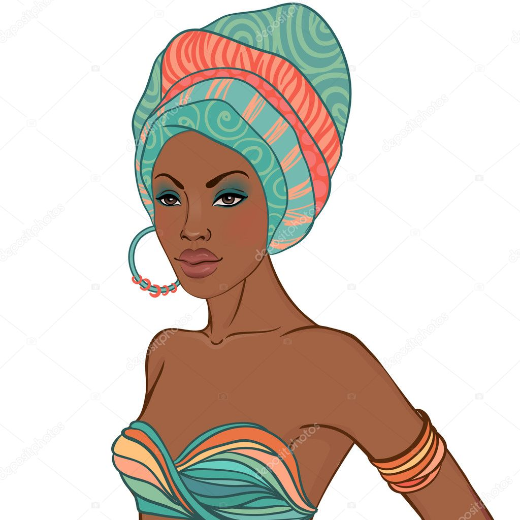 African woman with earring