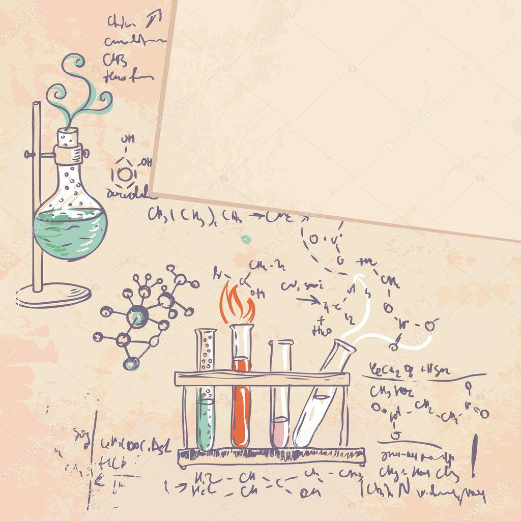Science Laboratory Background Design: Science Chemistry Laboratory