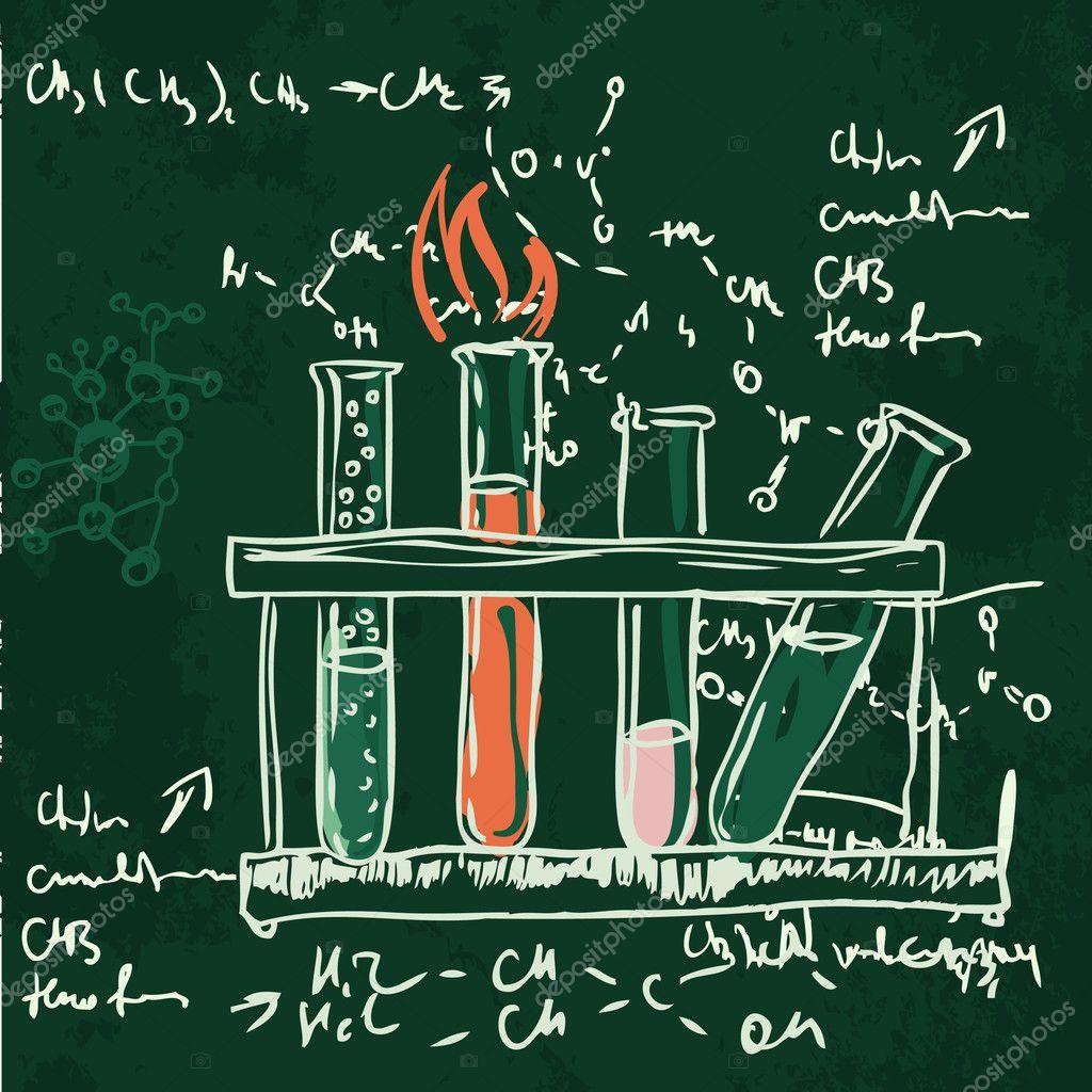 Science Laboratory Background Design: Science Chemistry Laboratory Background