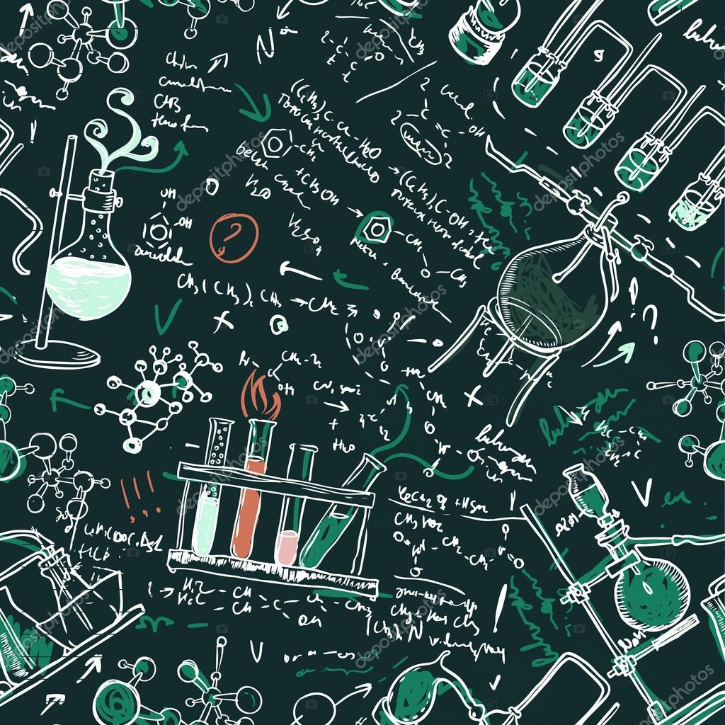 Sfondo di scienza chimica laboratorio vettoriali stock for Sfondi chimica