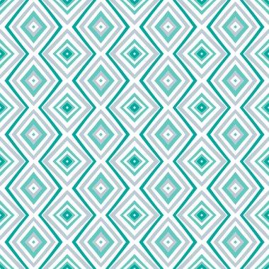Ethnic rhombus pattern in retro colors