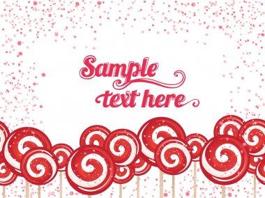 Candy lollipops background frame