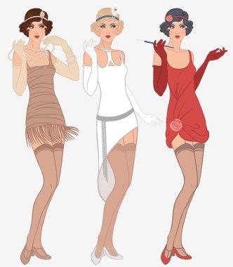 Flapper girls set
