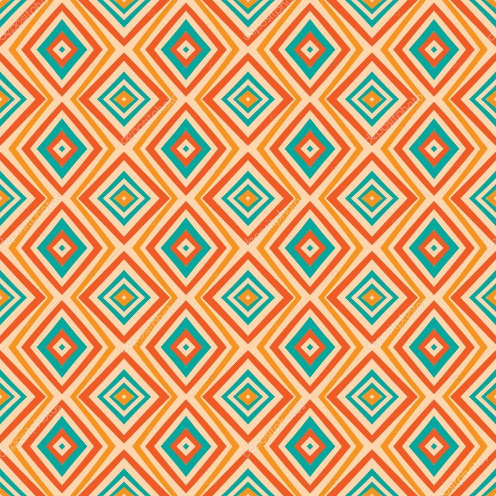 c30af178e7a23 padrão de losango étnicos em cores retrô — Vetores de Stock ...