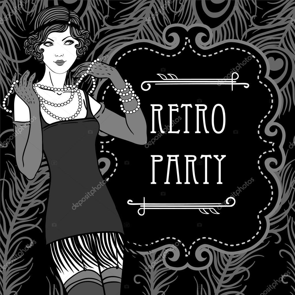 Retro party invitation design — Stock Vector © vgorbash #37528477