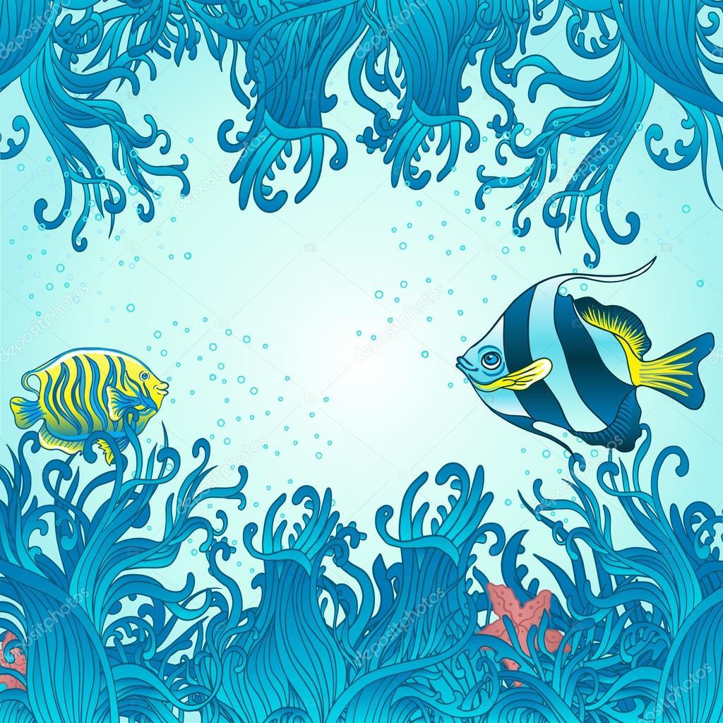 Sea background for design