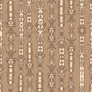 Steampunk seamless vector pattern