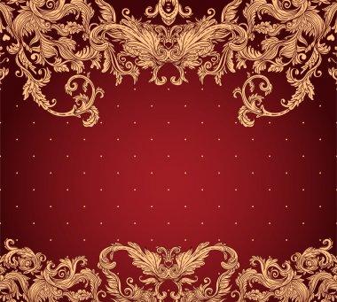 Vintage background ornate baroque pattern
