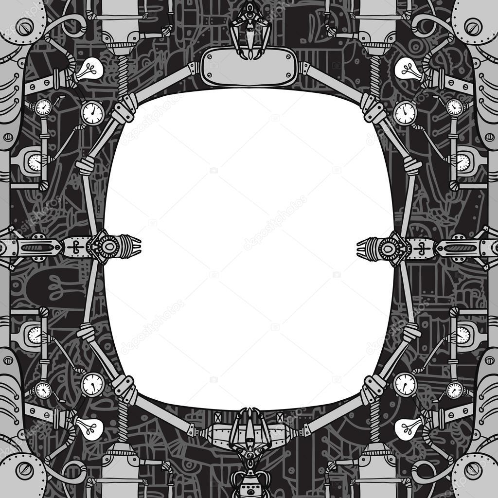 Steampunk vintage mechanische frame — Stockvector © vgorbash #37531083