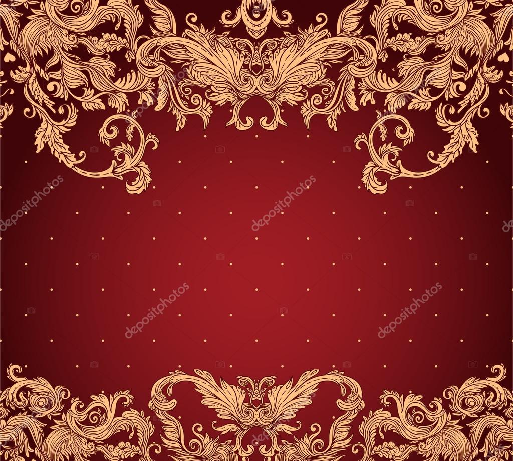 Vintage background ornate baroque pattern vector illustration stock - Vintage Background Ornate Baroque Pattern Stock Vector 37533133