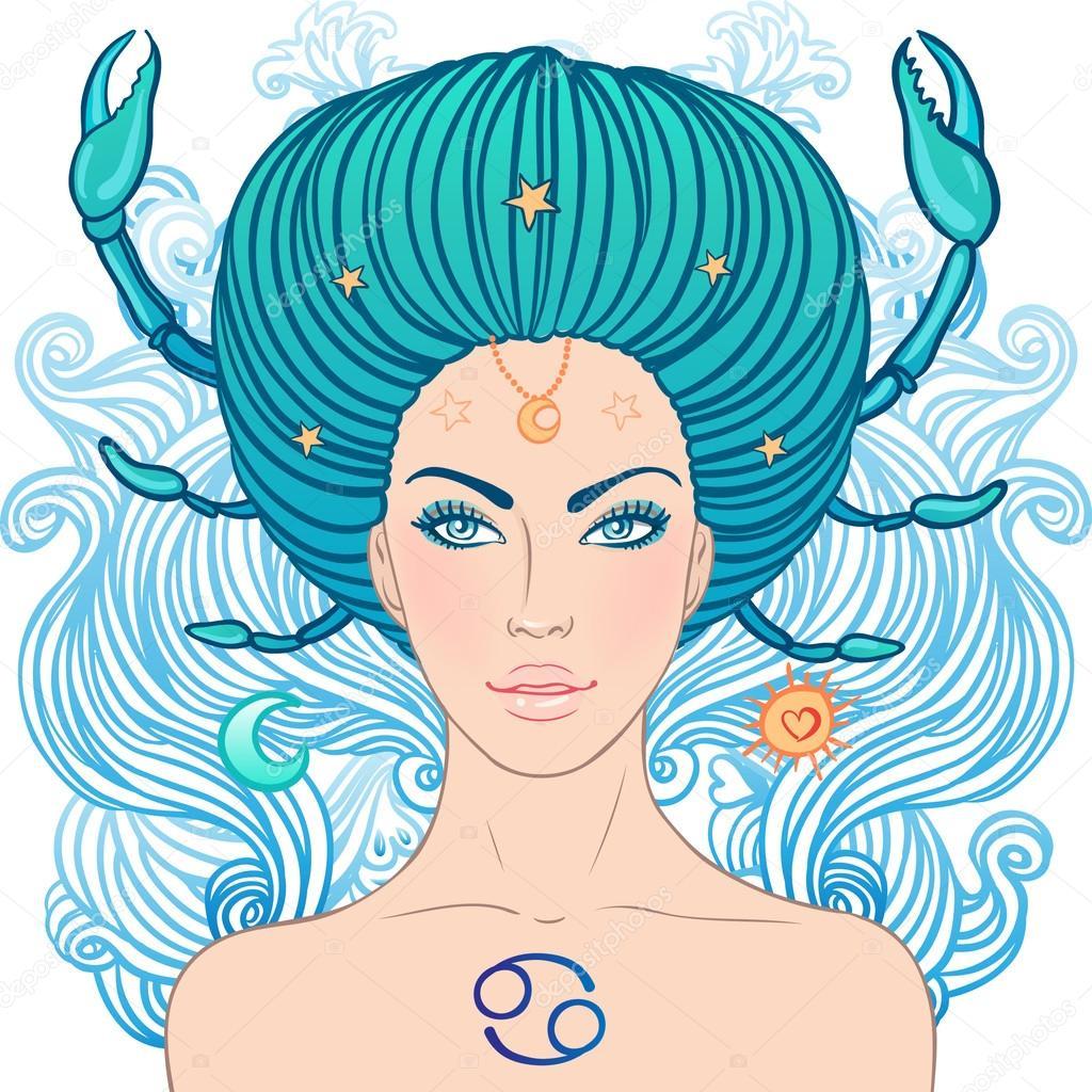 Áˆ Cancer Zodiac Art Stock Drawings Royalty Free Cancer Zodiac Illustrations  On Depositphotos