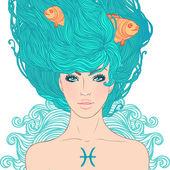 Illustration der Fische astrologisches Zeichen