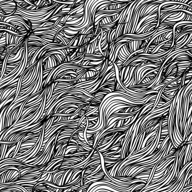 Abstract hand-drawn pattern with waves