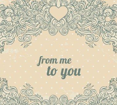 Olive vintage valentine frame