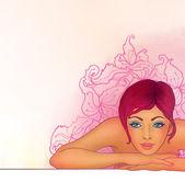 Fotografia ragazza durante la sua sessione di spa