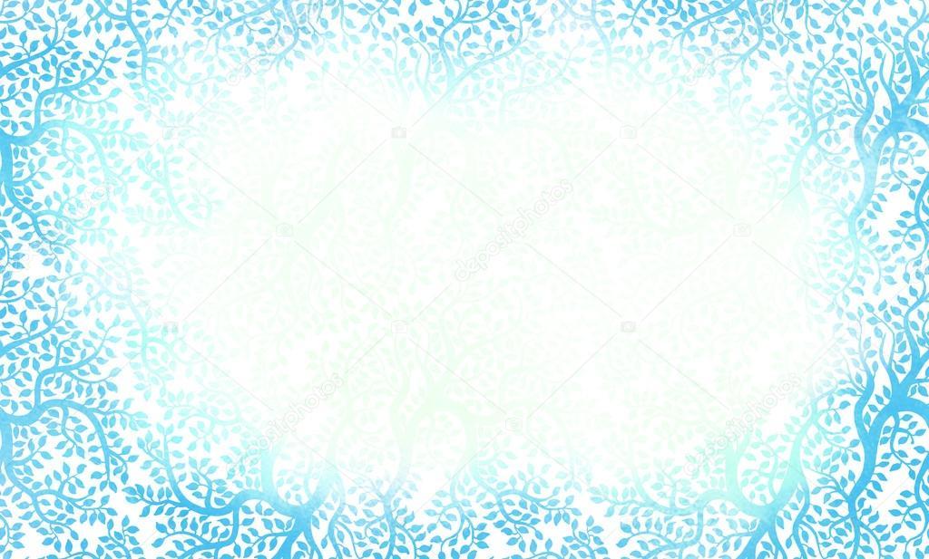 beau cadre bleu motifs floraux photographie vgorbash 40838067. Black Bedroom Furniture Sets. Home Design Ideas