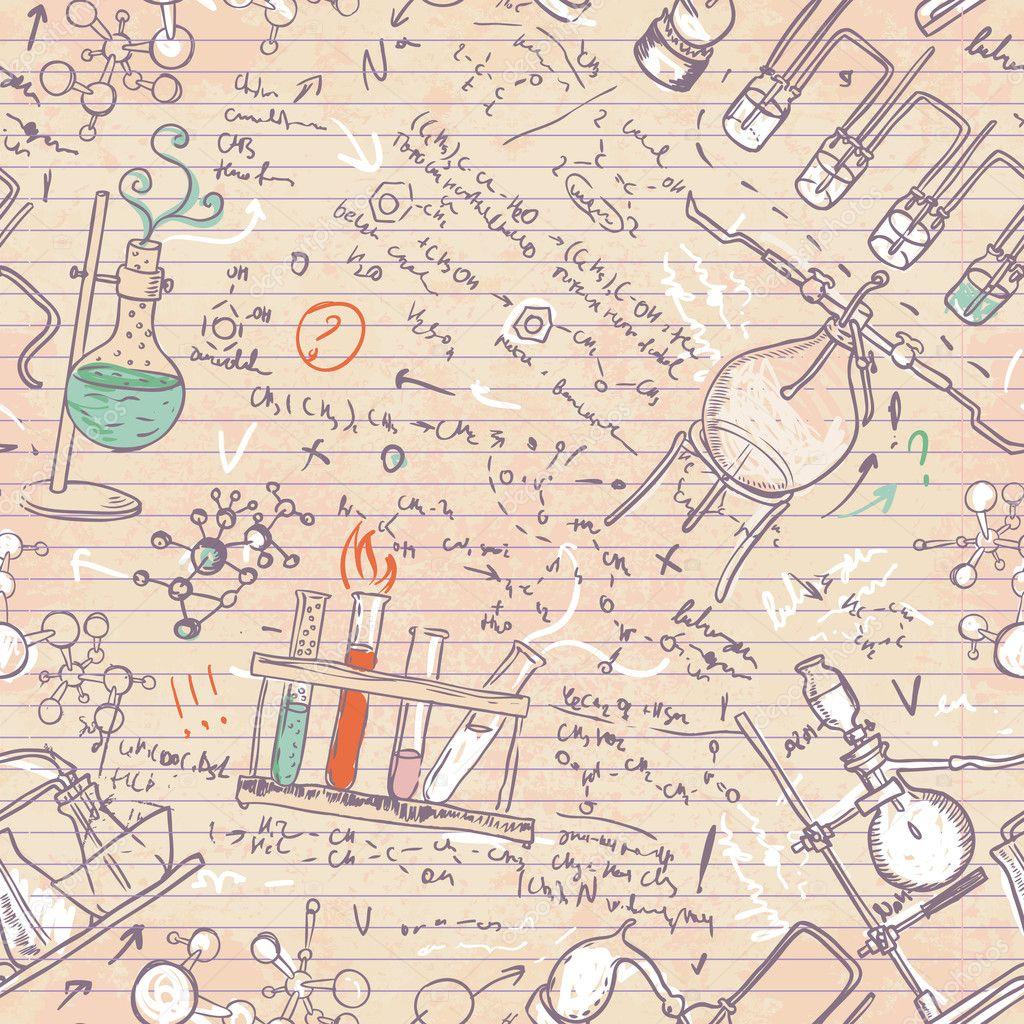 Viejos patrones sin fisuras laboratorio de química — Foto de stock ...