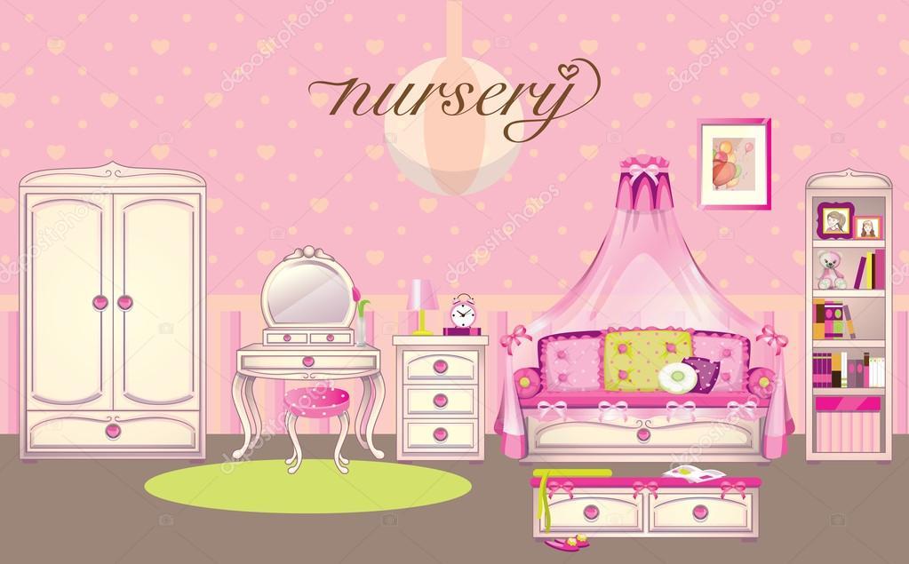 cuarto de niñas — Archivo Imágenes Vectoriales © love_is_love #37974651