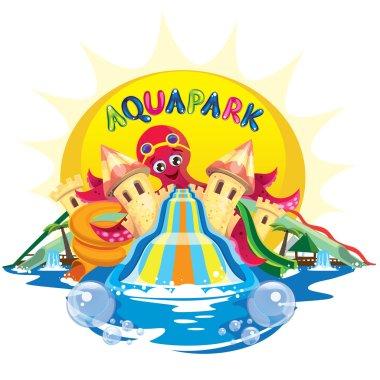 Aqua park with octopus