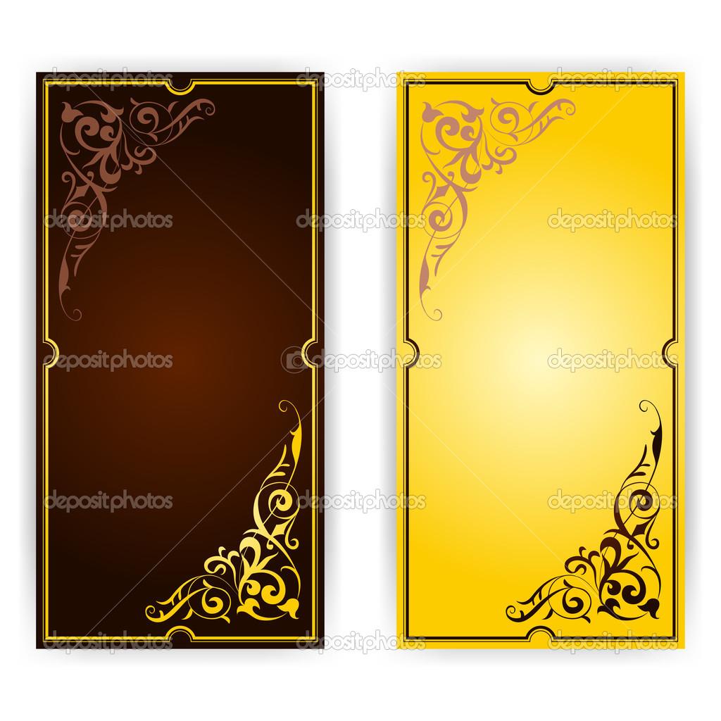 elegante plantilla para tarjetas de felicitación, invitación — Foto ...