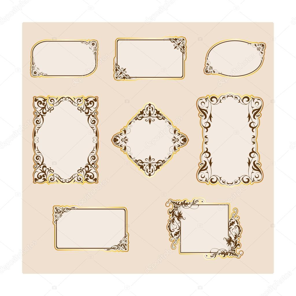 set of template frames and borders ストック写真 tashahryshchenko