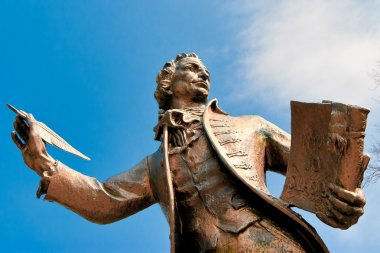 Statue of Thomas Paine author of Rights of Man in Thetford Norfo
