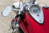 detail motocyklu zaparkované v whitstable
