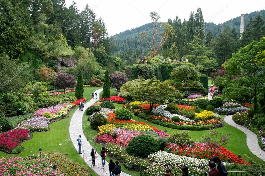 Stunning floral display at Butchart Gardens