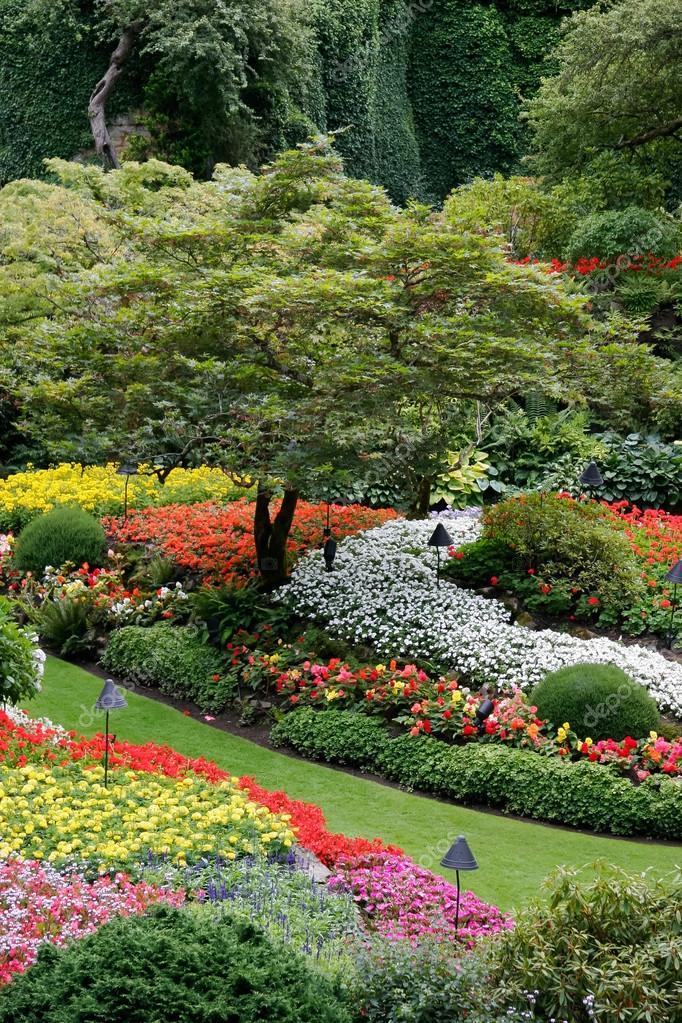 Stunning floral display at Butchart Gardens
